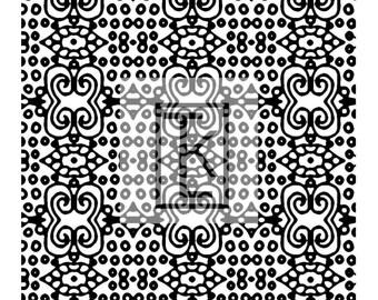 African Adinkra Symbol Textile Silk Screen Ready to Ship