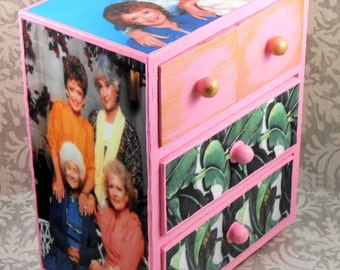 Custom Golden Girls Pink Stash Jewelry Box
