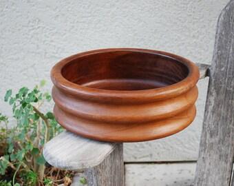 Vintage Kalmar Teak Wood Serving Bowl MCM