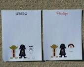 Star Wars Personalized Stationery - Notecards or Notepads