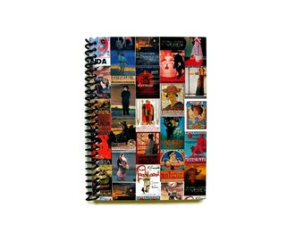 Opera Poster Mosaic - Notebook Spiral Bound - 4x6in