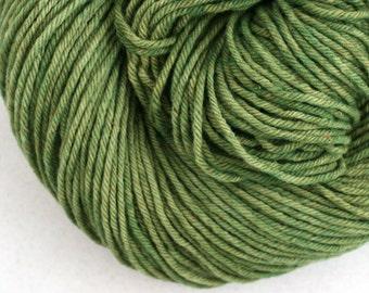 Hand Dyed Aran weight mini Empire Rambouillet Wool 213 yds 4oz Boxwood