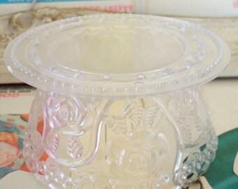 Vintage / Pedestal for Wedding Cake Topper / One Item / Do it yourself /  Transparent Plastic