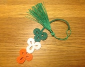 Irish Tri-Colour Shamrock Bookmark