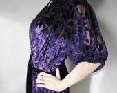 Deco Darling - Vintage 1930s 40s Silk Velvet Cocktail dress Gown XXL XL