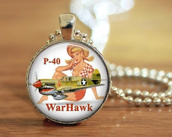 Bomber Pinup Pendant, Bomber Pinup Girl, Vintage Pinup, Pinup Jewelry, Pinup Necklace, Pin up Girl,  Art Photo Necklace