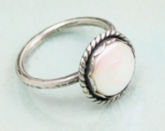 Thetis Ring in Pearl and Sterling Silver  (size 8 1/4)