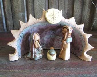 Handmade Miniature Nativity Set