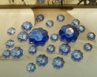 Swarovski Beads Margarita Crystals Lt Sapphire 3 Sizes