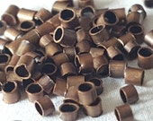 Antiqued Copper Crimp beads (200)