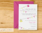 Diapers and Dresses - Second Child - Baby Sprinkle Invitation - Digital File or Printed