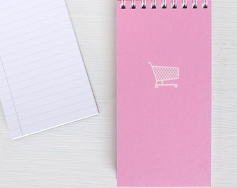 pressed mini reporter notebook - pink SHOPPING CART