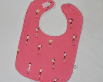 Pink Ballerinas and Chenille Bib