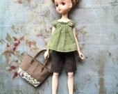 Summer Holiday set for Ruruko dolls - Cap Sleeve blouse