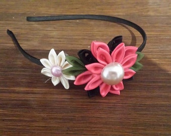 Kanzashi Fabric Flower Headband