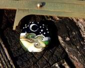 Mystic Moon, Focal Bead, Handmade Artisan Glass Lampwork Bead, Simply Lampwork by Nancy Gant SRA G55