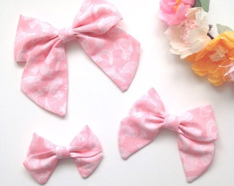 Pink Birdy Sailor Bow