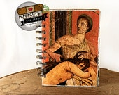 Classical Beauty - Wire-Bound Recycled Art Journal