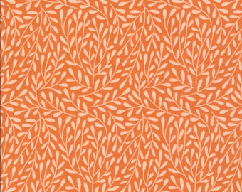 Dancing Vines orange Morning Song Collection Cloud 9 organic cotton quilt fabric