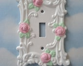 Pink Rose Light Switch Plate Cover
