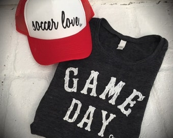 Game Day Tank, Football, Game Tank, team spirit, sports, woman's sports tank