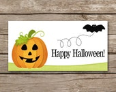 Halloween Treat Bag Topper, Pumpkin Treat Topper, Jack O Lantern, Halloween Tag, Halloween Sticker, INSTANT DOWNLOAD