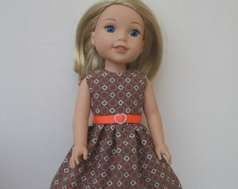 """Wellie Wishers American girl 14.5"""" Doll Clothes Dress"""