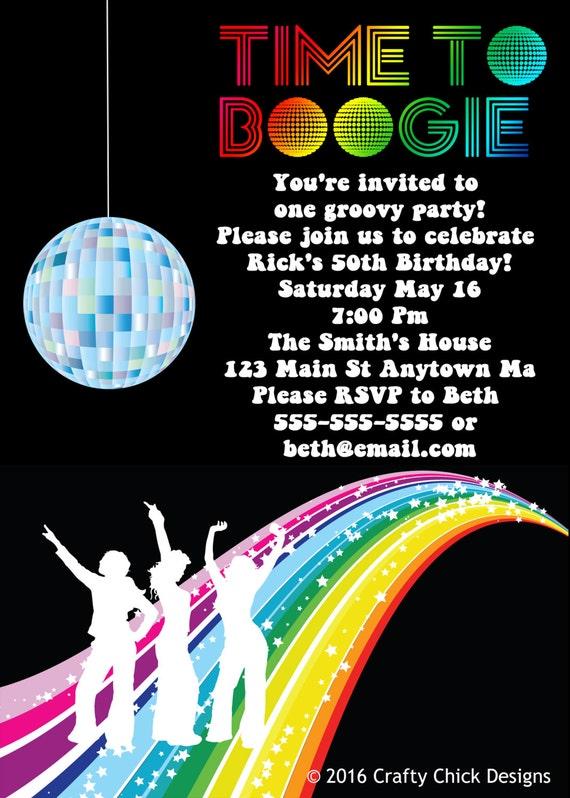 disco party invitations disco invitation disco birthday, Birthday invitations