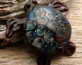 EARTH DAY 2016 - OOAK - Handmade Lampwork Focal Bead/Lampwork Pendant - Turtle