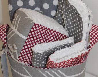 Gray Arrow Baby Gift Basket- Ready to Ship-- Baby Shower Gift-- New Mom Gift