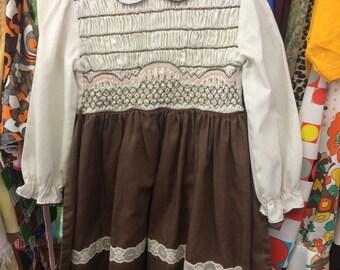 70s Smocked Dress 5/6