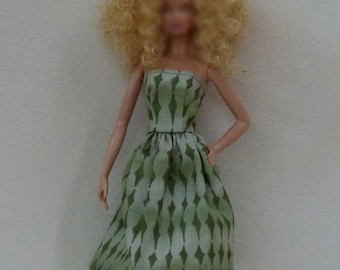"Handmade 11.5"" fashion doll dress"