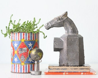 Vintage Metal Horse Post Topper