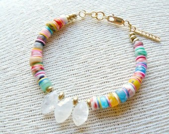 Confetti Multi Colored Beaded Bracelet