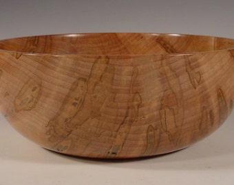 Spalted Ambrosia Maple Wood Bowl number 6074 by Bryan Nelson