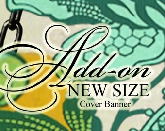Add On Cover Banner New Size Etsy Shop for Existing Customers