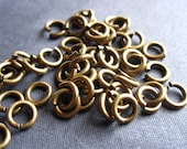 Brass 5mm Open Jump Rings - jewelry findings 33 pieces