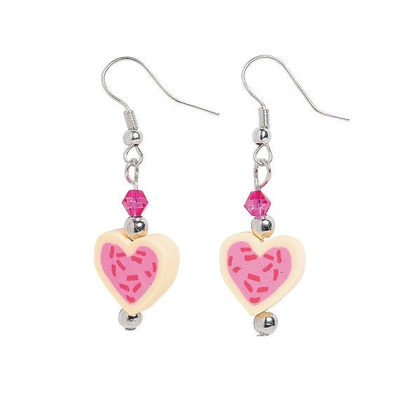 Heart Cookie Earrings