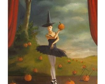 Dance of the Pumpkin Patch. Art Print