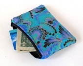 Peacock Coin Purse/Zippered Pouch