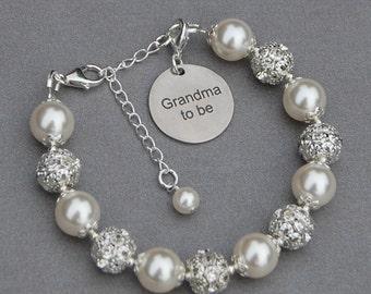 Grandma to Be Jewelry, Grandma to Be Gift, Grandma to Be Charm Bracelet, Grandma to Be Gift Ideas, Pregnancy Reveal, New Grandma Gift