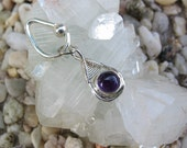 Amethyst Belly Button Ring, Dangle, Belly Button Jewelry, Wire Wrap, Navel Piercing, Body Jewelry