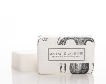 3 BARS - Sea Salt & Lavender Shea Butter Soap