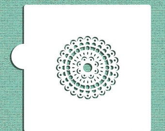 Mandala #3 Cookie and Craft Stencil - Designer Stencils (CM060)
