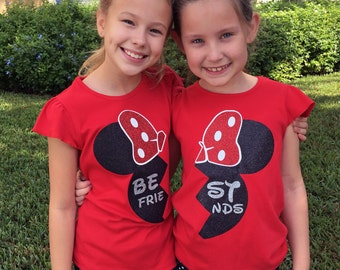 Best Friends Minnie Disney Shirts --- BFF