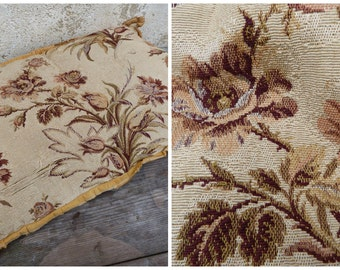 Vintage 1920/1930 old French Art deco petit point tapestry pillow / timeworn