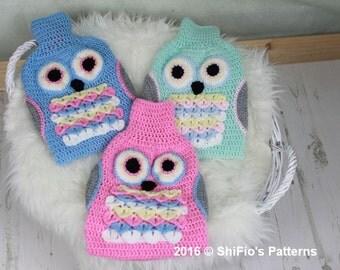 CROCHET PATTERN For Owl Hot Water Bottle Cover Crochet Pattern PDF 356 Digital Download