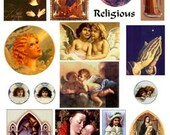 Religious vintage prayer angel images Download Digital Collage Sheet GreatMusings No. 237