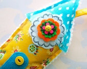 Whimsical Stuffed Fabric House Ornament Pillow Decoration