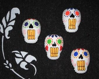 Dia De Los Muertos Push Pins, Day of the Dead Tacks, Sugar Skull Pins, Calavera Skulls, Mexican Holiday, Memo Board Pins, FREE USA Shipping